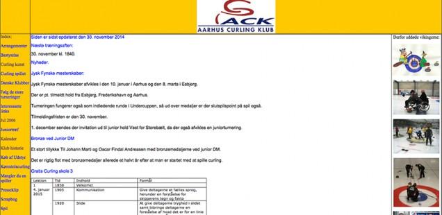 Den gamle hjemmeside